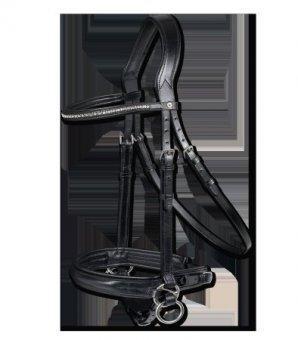 WALDHAUSEN Trensenzaum X-Line Gebisslos, schwarz, WB, schwarz, WB