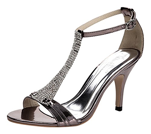 Chalmart Sandales Femme Fashion Chaussure De Talon Noir