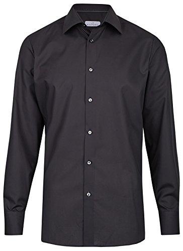 Einhorn Herren Hemd Modern Fit Jamie schwarz 854.11305 9, Größe 43