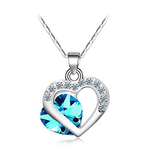 Valentine Gifts :YouBella Gracias Collection Swiss Zircon Jewellery Heart Pendant / Necklace for Women and Girls
