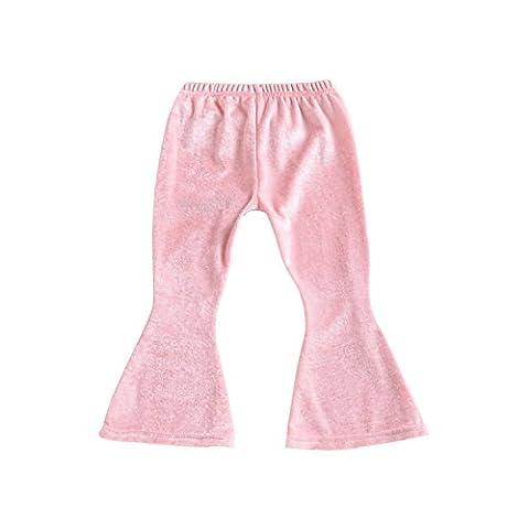 Babyicon Baby Girls Velour Stretchy Flare Pants Leggings Bootcut Pant Trousers (110cm :( 2-3 yeras ),