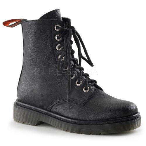 Demonia Rage-100 Gothic Punk Industrial Ranger Stiefel Boots mit Nieten Schuhe 36-43 Schwarz