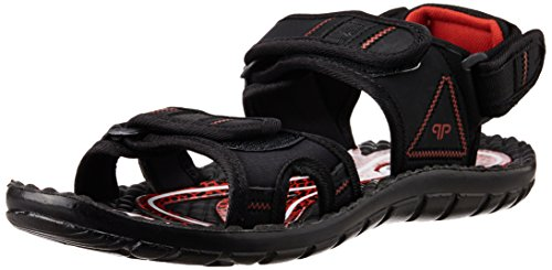 Provogue Men's Black Sandals and Floaters - 7 UK  available at amazon for Rs.399
