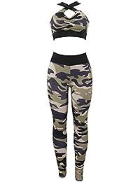 Uskincare Mujer 2PC Conjuntos Sujetadores Pantalones Leggings Fitness Ropa deportiva