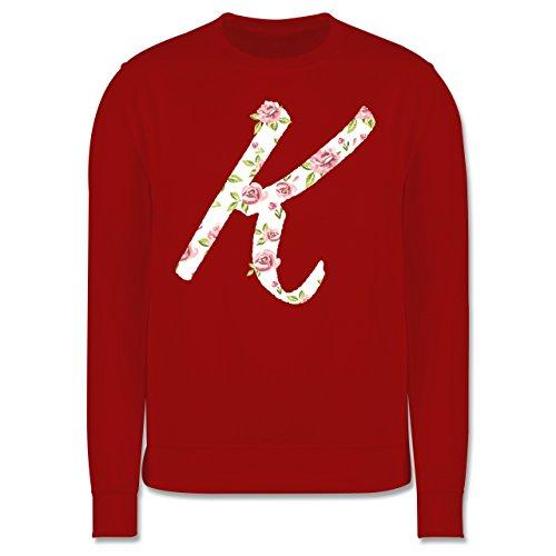 Anfangsbuchstaben - K Rosen - Herren Premium Pullover Rot