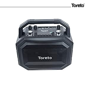 Toreto 60W Portable Wireless Party Speaker with Karaoke Mic for Singing & Recording