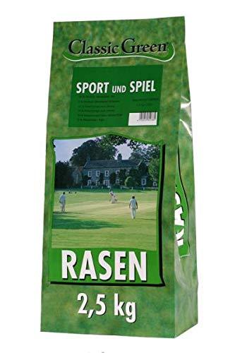 Classic Green Sport- & Spielrasen Papierbeutel 2,5kg (Menge: 4 je Bestelleinheit)