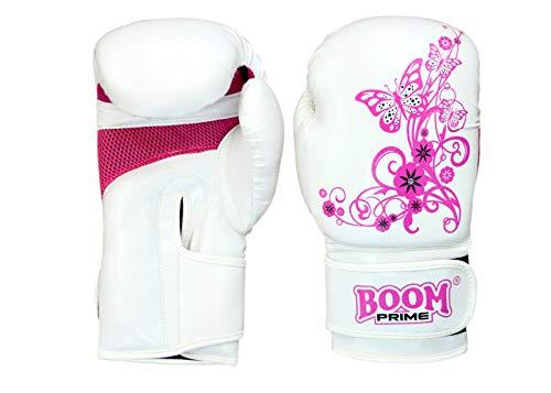 Boom Prime Mujer Piel Artificial Guantes boxeo 6oz-14oz