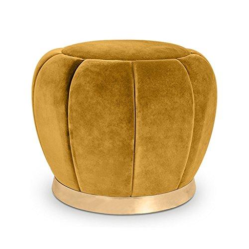 Make-up Hocker Sitzgelegenheiten Fußhocker Fußstütze Ottomane Runde Stuhl Fußhocker für Wohnzimmer Schlafzimmer Coffee Shop-Gelb