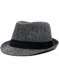 Sombrero De Pata De Estilo Gallo A Rayas Damas Modernas Casual para Hombre  Playa De Verano Sol Sombrero De Jazz Sombrero Tejido A… 71d909d5e2d
