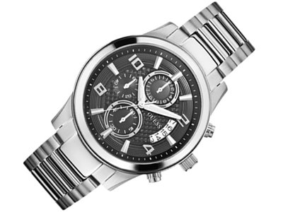 GUESS W0075G1 UNISEX 47MM SILVER STEEL BRACELET & CASE DATE WATCH