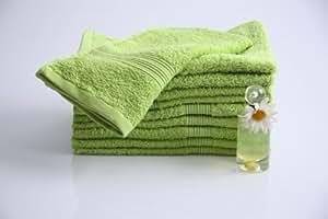10 tlg. Handtuchset in apfelgrün, 10x Gästetücher