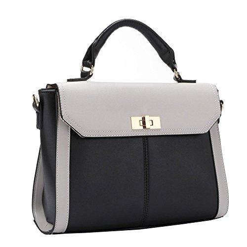 HB Style , Sac femme Fille Blanc/noir