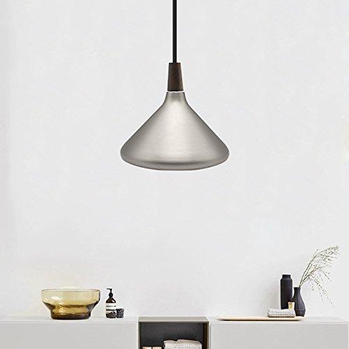 Diolumia - Suspension Dôme en Métal Lisse - Style Industriel - Douille E27 Max.60W - Eclairage de plafond - Lampe suspendue Restaurant, salle à manger, Câble ajustable - Argenté