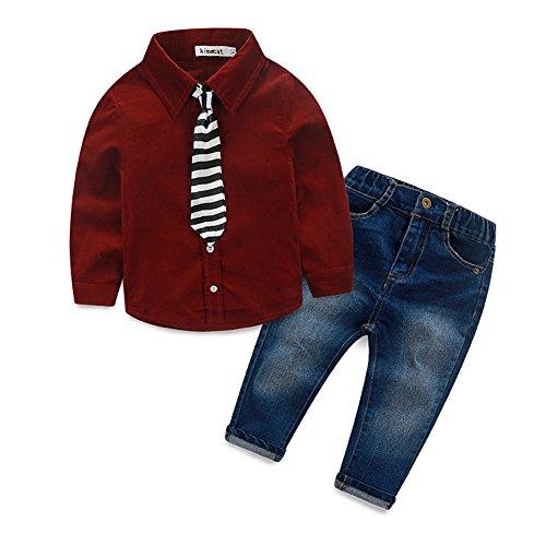 Fanryn Baby Kinder Kinderanzug Jungen Kleider Coat Kleidung Hemd mit Fliege + Hose Bekleidungsset Kleidung Gentleman Anzug mit Herbst Kleidung des
