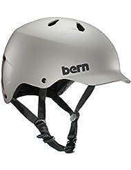 Bern Watts Men–Deportes acuáticos Casco, Casco, Casco de esquí de agua tarjeta Wake/Color: gris, color satin grey, tamaño xx-large