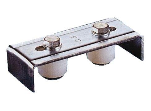 Fuß Führungsgelenk oben A 2Oliven art.247Olive verstellbar. Verzinkt, für Tore. -