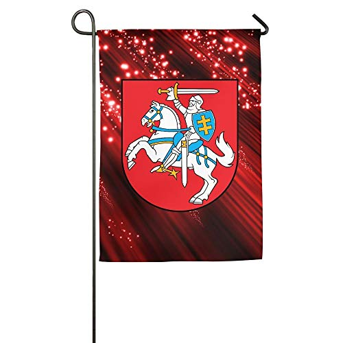 WEERQ Coat of Arms of Lithuania Floral Garden Yard Banner for Outside House Flower- Best for Party Yard and Home Outdoor Decor -
