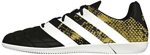 adidas Herren Ace 16.3 in Leather Fußballschuhe Schwarz (Core Black/Ftwr White/Gold Metallic) H5ZdE0z