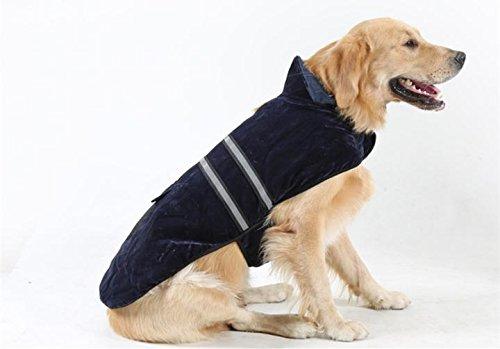Hianiquaime® Manteau d'hiver Automne pour Labrador en Coton Veste pour Chien Chat Vêtement Très Chaud Douillet 3 Tailles