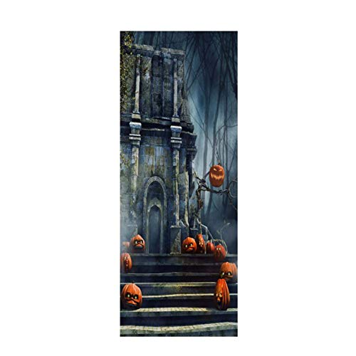 Demaple Halloween Weihnachten 3D Simulation Türaufkleber Dreidimensionale Wasserdichte Selbstklebende Tür Aufkleber