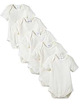 Twins Baby-Unisex Kurzarm-Body aus Bio-Baumwolle, 5er Pack