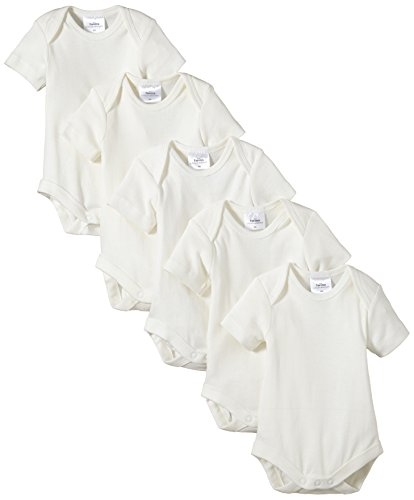 Twins - Body Bebés, pack de 5, Blanco (Off White), 12 meses (Talla de