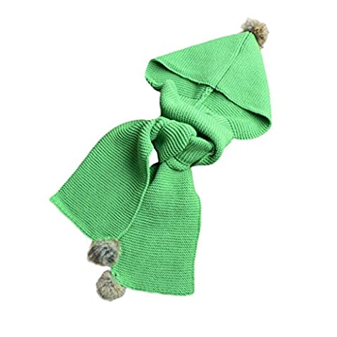 Hats&Scarf, Kingko® Autumn Winter Boys Girls Baby Scarf Cotton O Ring Neck Scarves (Green)