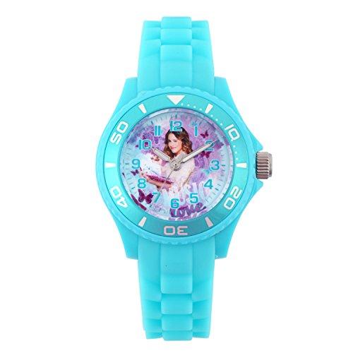Disney W001568 Mädchen Armbanduhr, Motiv Violetta, analog, Silikonband, Türkis