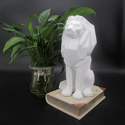 DAJIADS Figur, Statue, Statuen, Statuette, Skulpturen,Tier Styling König Der Tiere Löwen Home Art Deko Für Wohnzimmer Schlafzimmer Büro Handwerk, Weiß - Outdoor-löwen-statuen