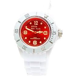 Nerd® NEW YORK Uhr in Weiß/Rot G40