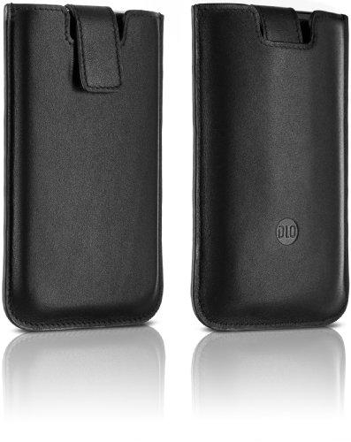 DLA 63054 Slim Sleeve Leder-Tasche mit Lasche für Apple iPod Touch 2.Gen u. 3.Gen schwarz -