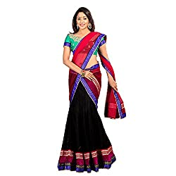 Florence Womens Net Braso Lehenga Choli (AN_1026_Black)