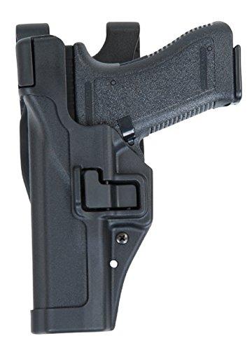 BLACKHAWK Holster Level3 Duty Holster Glock 20/21/21SF/37/38, Paddle, Schwarz, Links