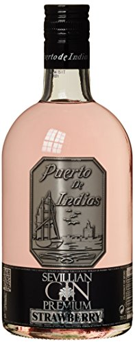 Sevillan Gin Premium Puerto de Indias Strawberry Ginebra - 700 ml