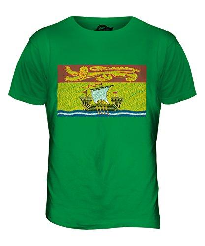 CandyMix New Brunswick Kritzelte Flagge Herren T Shirt Grün