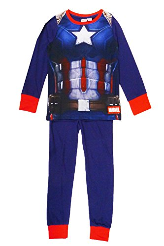 Garçon Officiel Star Wars Merveille De Disney Toy Story WWE John Cena Sous licence Enfants PJs - Captain America Déguisement, 2-3 ans