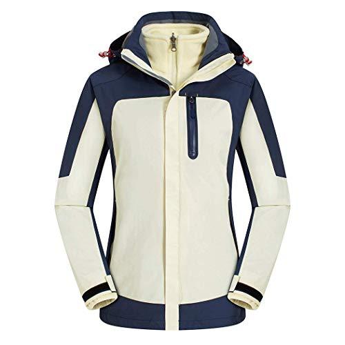 AXIANQI High-End Outdoor Zweiteilige Jacke Männer Und Frauen Modelle Fleece Liner Winter Kalt Warm Arbeitskleidung A (Color : Lady beige, Size : XL) Jacke Fleece Liner