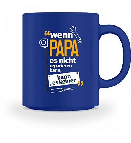 Hochwertige Tasse - Nur Papa kann es reparieren Heimwerker, Handwerker Geschenke T-Shirt (Schraubenschlüssel Tasse)