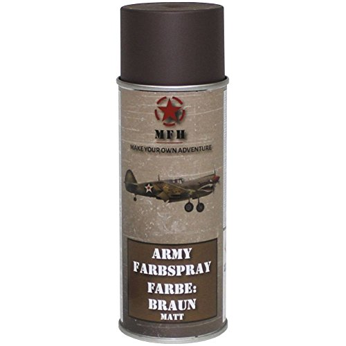 BW Army Farbspraydosen Sprühfarbe Armeelack 400ml DS 13,25 ?/L Braun matt