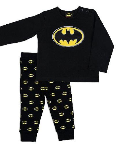 Batman - Pigiama, Bambini e ragazzi, nero (Black), 2 anni