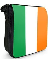 Ireland Flag Small Black Canvas Shoulder Bag / Handbag