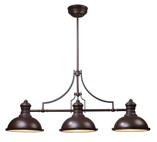 ELK Lighting 66135-3 Chadwick 3-Light Billiard Light, 21-Inch, Oiled Bronze by Landmark