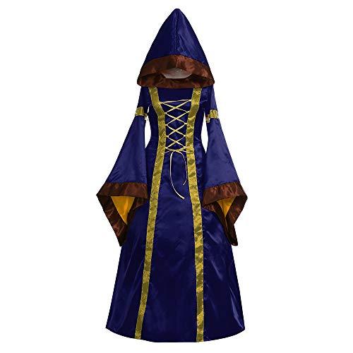 Oyedens Karneval Kostüm Damen 2019 Damen Langarm Mit Kapuze Mittelalter Kleid Bodenlangen Cosplay Dress Age Mittelalter Kleidung Große Größen Renaissance Kostüm Lang