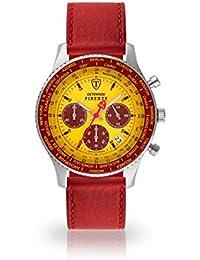 DETOMASO Firenze Montre pour Hommes Chronographe Chronographe analogique  Quartz Rouge foncé Bracelet en Cuir Rouge foncé 8a0976d0e62d