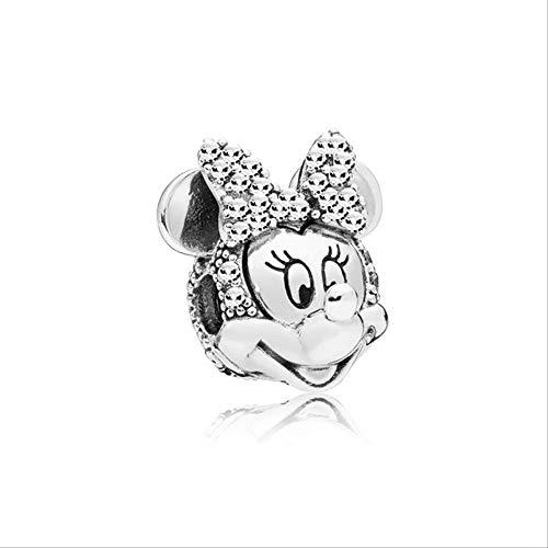 Xingxx accessori amore cuore charms alta qualità argento perline fit pandora bracciale per donne diy gioielli hmf034-mn