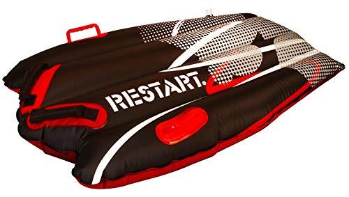 RESTART Luge gonflable - Taille unique - Noir et rouge