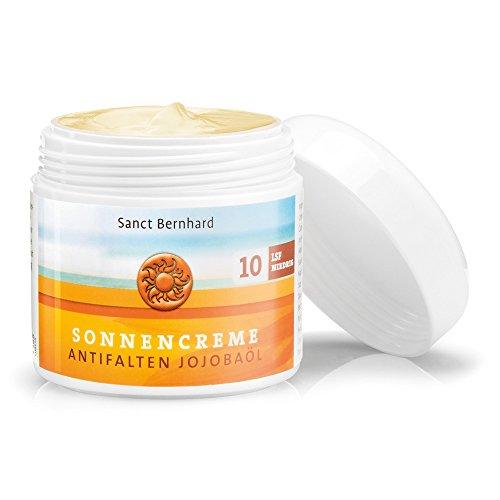 Sanct Bernhard Sonnencreme Antifalten Jojobaöl LSF 10, Dose mit 100 ml