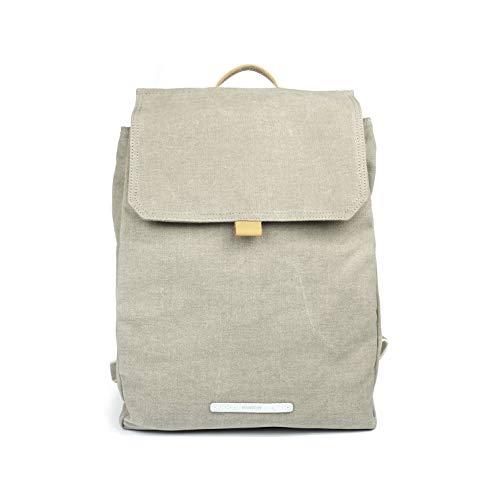 Rucksack Damen Klein - Daypack Waxed Canvas Wasserdicht - 13 Zoll Laptop - RAWROW Kleiner Backpack (Champagne)