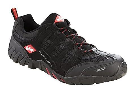 Lee Cooper lcshoe008C-9Größe 9/43Workwear Schuhe–Schwarz (Resistant Steel Toe Schuhe)